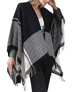 REISS - Jessy Striped Lamb's Wool Poncho