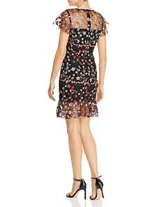 AQUA - Flounced Embroidered Mesh Dress - 100% Exclusive