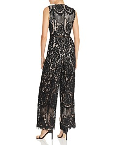 AQUA - Wide-Leg Lace Jumpsuit - 100% Exclusive