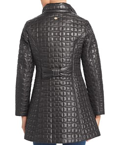 kate spade new york - Fit-and-Flare Bow-Quilted Coat
