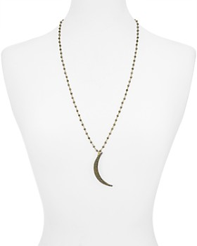 Roni Blanshay - Crescent Moon Necklace, 28""