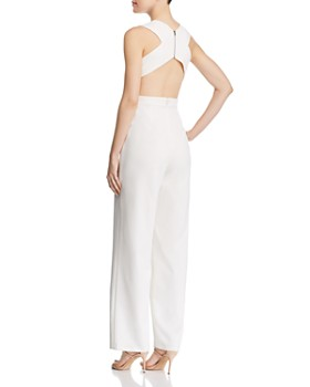 Aidan by Aidan Mattox - Plunging Crepe Jumpsuit