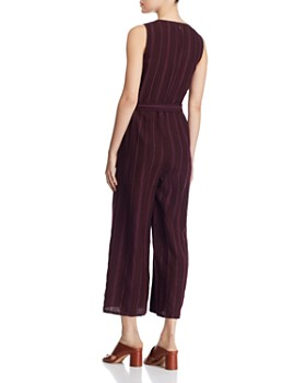 Eileen Fisher Petites - Striped Organic Linen Jumpsuit - 100% Exclusive