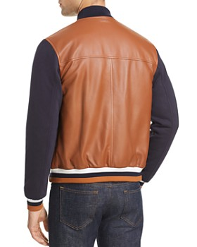 Z Zegna - Leather Varsity Jacket