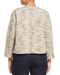 Eileen Fisher Plus - Textured Knit Open Jacket