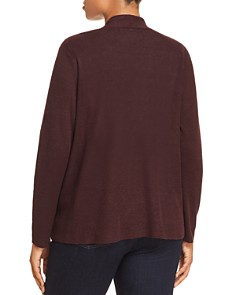 Eileen Fisher Plus - Organic Linen Open Cardigan