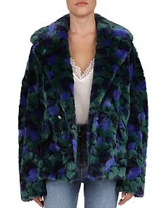 The Kooples - Printed Faux-Fur Coat
