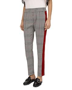 The Kooples - Coly Glen Plaid Velvet Stripe Pants