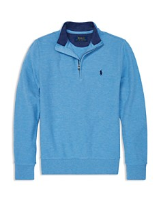 Ralph Lauren - Boys' Cotton-Mesh Half-Zip Pullover - Big Kid