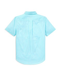 Ralph Lauren - Lauren Boys' Gingham Flannel Short Sleeve Shirt - Big Kid