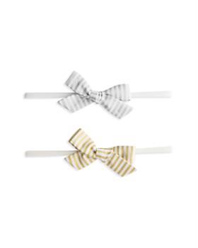 Baby Bling - Girls' Metallic Bowtie Stretch Headband, Set of 2 - 100% Exclusive