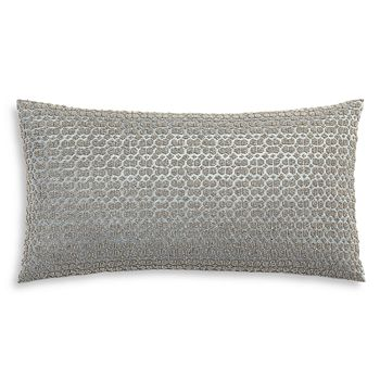 "Hudson Park Collection - Embroidered Tile Decorative Pillow, 12"" x 22"" - 100% Exclusive"