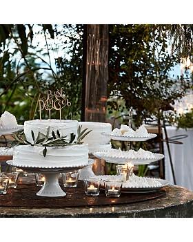 "Costa Nova - White Pearl 13"" Cake Stand"