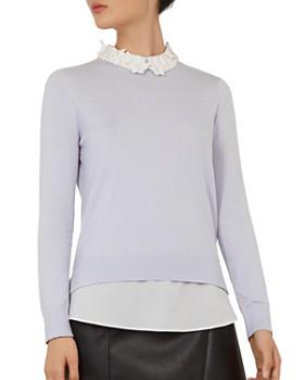 0b91e13dea Ted Baker - Natasha Embellished Layered-Look Sweater ...
