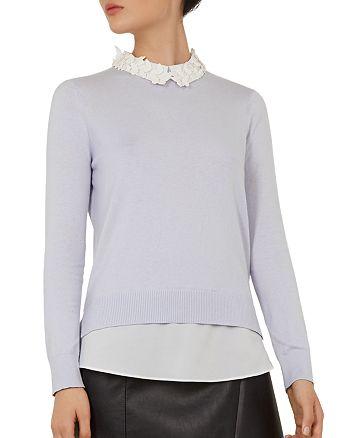 Ted Baker - Natasha Embellished Layered-Look Sweater