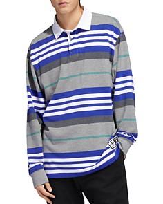 adidas Originals - Cleland Striped Long-Sleeve Regular Fit Polo Shirt