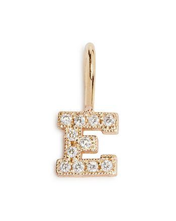 Zoë Chicco - 14K Yellow Gold Diamond Initial Charm