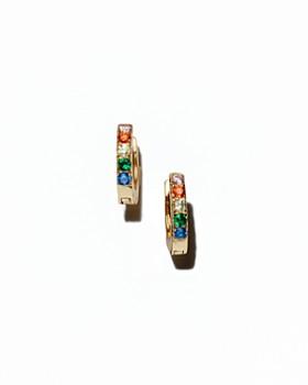 Kris Nations - Rainbow Huggie Hoop Earrings
