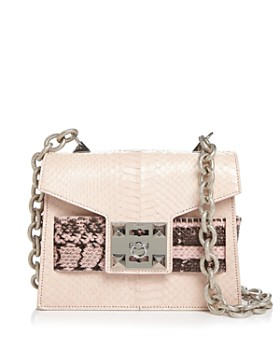 Salar - Mila Leather & Snakeskin Shoulder Bag