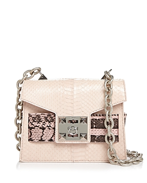 Salar Mila Leather & Snakeskin Shoulder Bag