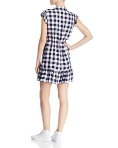 BB DAKOTA - Flounced Gingham Shirt Dress