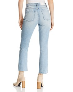 Pistola - Lennon Distressed Cropped Bootcut Jeans in Illusionist