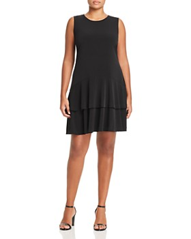 db646d28538 MICHAEL Michael Kors Plus - Sleeveless Tiered-Hem Dress ...