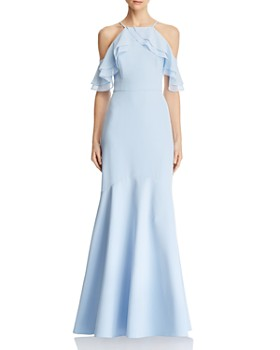 Laundry by Shelli Segal - Cold-Shoulder Chiffon Gown