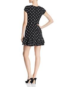 AQUA - Ruffle-Hem Polka Dot Dress - 100% Exclusive