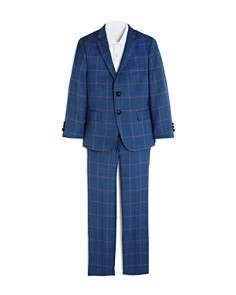Tallia - Boys' Plaid Slim Fit Sport Coat & Pants Set - Big Kid