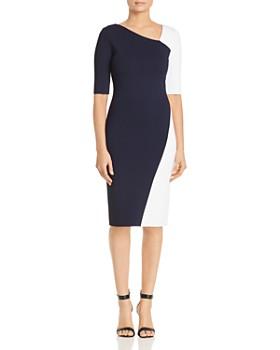 d3f77af5 St. John - Luxe Knit Color-Block Dress ...