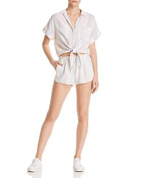 Bella Dahl - Tie-Front Striped Shirt