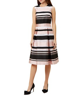 HOBBS LONDON - Bridgette Pleated Striped Dress