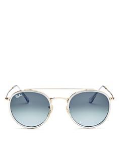 Ray-Ban - Unisex Brow Bar Round Sunglasses, 51mm