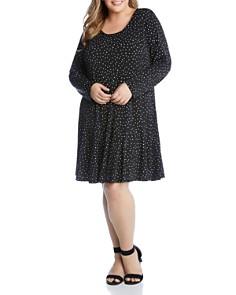 Karen Kane Plus - Dakota Dot-Print Dress