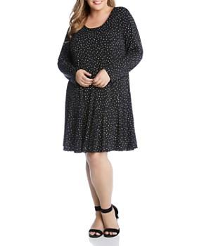 3704f0f74ae Karen Kane Plus - Dakota Dot-Print Dress ...