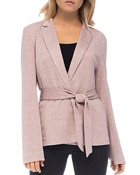66a75463287c5 B Collection by Bobeau - Tie-Front Knit Jacket ...