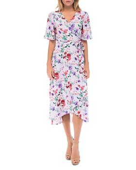 B Collection by Bobeau - Orna Floral-Print Wrap Dress