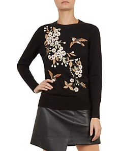 Ted Baker - Helliah Graceful Embroidered Sweater