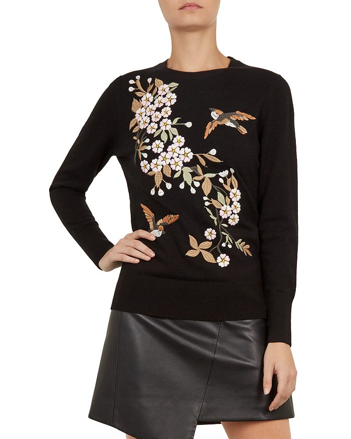 2e9802f4c Ted Baker - Helliah Graceful Embroidered Sweater