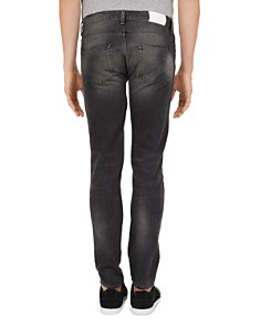 The Kooples - Distressed Blue Straight Slim Fit Jeans in Black Washed