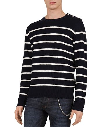The Kooples - Mix Striped Wool & Cashmere Sweater