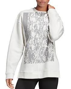 adidas by Stella McCartney - Snake Graphic Fleece Sweatshirt