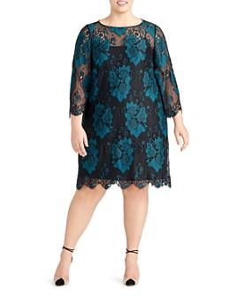 Rachel Roy Plus - Madeline Two-Tone Lace Dress