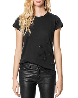 Zadig & Voltaire - Skinny Stars Strass Tee