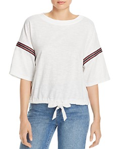 Honey Punch - Striped Sleeve Blouse