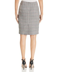 T Tahari - Plaid Pencil Skirt