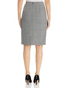T Tahari - Glen Plaid Pencil Skirt