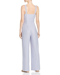 Sage the Label - Wild One Striped Tie-Detail Jumpsuit