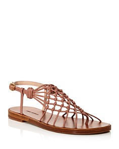 Stuart Weitzman - Women's Seaside Netted Thong Sandals
